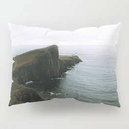 Neist Point Lighthouse II - Landscape Photography Pillow Sham