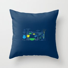 Music Chemistry Throw Pillow