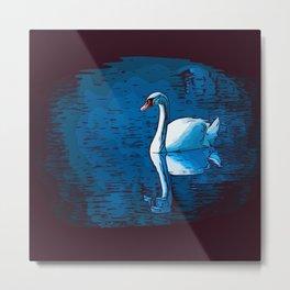 A Mute Swan Metal Print