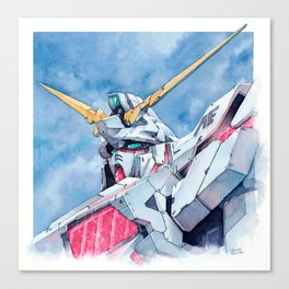 Unicorn Gundam Red Psycho-frame Canvas Print