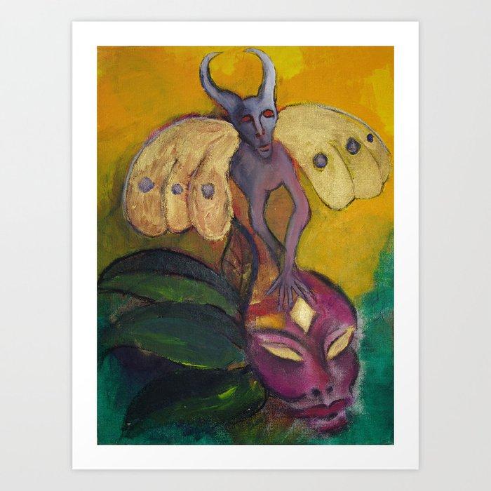Inspiration Fantasy  Fine Art Painting by Garden Of Delights Art Print