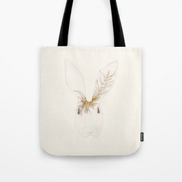 Miss Bunny Golden Brown Tote Bag