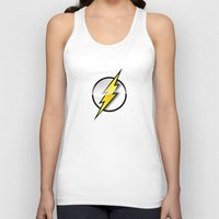 the flash Tank Tops featuring FLASH by neutrone