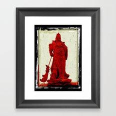 General's Red Rage Framed Art Print