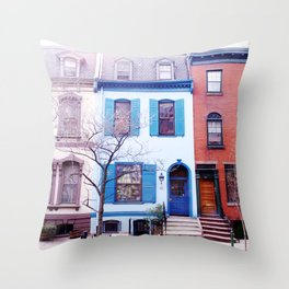 The Smurf House Throw Pillow