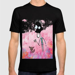 Little cat and the guy with ax, colors T-shirt