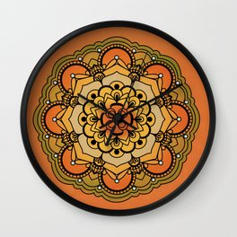 Colorful Floral Design Wall Clock