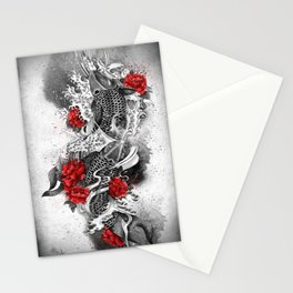 Two Kois and a river Stationery Cards