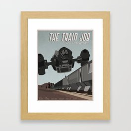 Train Job Framed Art Print