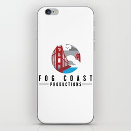 Fog Coast Productions Logo White iPhone Skin
