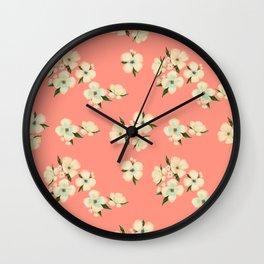 Morning Blossoms Wall Clock