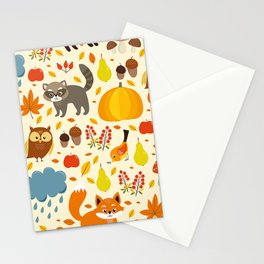 Woodland Animals Stationery Cards