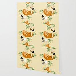 Sleeping cats family Wallpaper