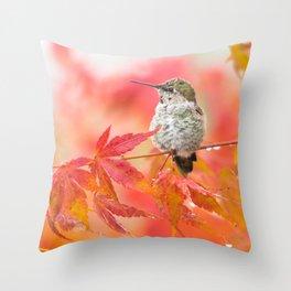 Autumn Hummer Throw Pillow