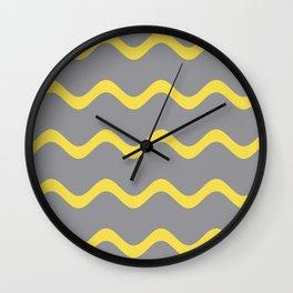 Soft Rippled Horizontal Line Pattern Wall Clock