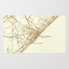 Vintage Map of Myrtle Beach South Carolina (1937) Rug