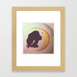 Girl with antlers Framed Art Print