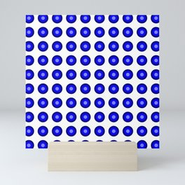 Bullseye -- Blue Mini Art Print