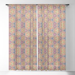 hippie - pattern colorfull Sheer Curtain