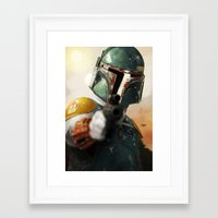 boba Framed Art Prints featuring Boba by Yvan Quinet