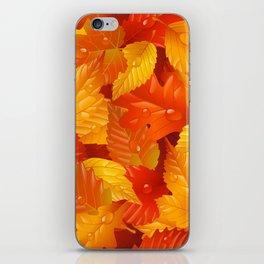 Autumn leaves #2 iPhone Skin