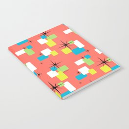 Living Coral Retro Inspired Notebook