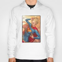 supergirl Hoodies featuring Supergirl by kody
