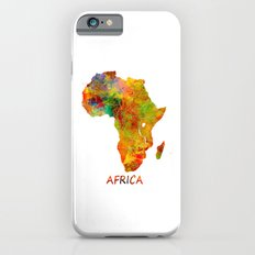 Africa map colored iPhone 6s Slim Case