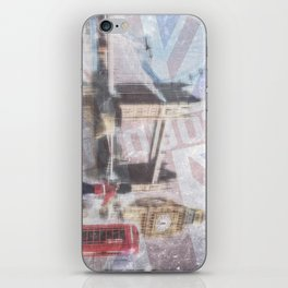london collage - blue iPhone Skin