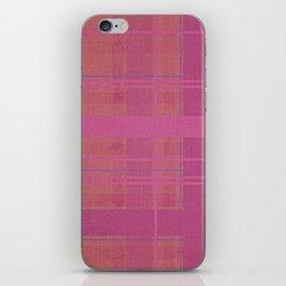 pink madras iPhone Skin