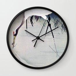 Ohara Koson - Top Quality Art - japanese crane Wall Clock