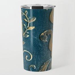 Original Art - A Piece of Versailles Blue & Gold Gilding Art Block Travel Mug
