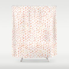 Pretty Peach Watercolor Abstract Shower Curtain