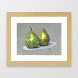 Spring Green Pears Framed Art Print