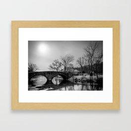 Clove Lakes Rock Bridge Framed Art Print