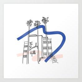 Iconic Los Angeles - Beverly Hills Hotel Art Print