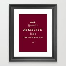 Merry Little Christmas Framed Art Print