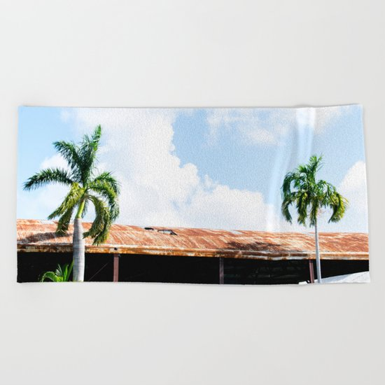 Rusted Roof Beach Towel
