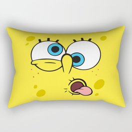Spongebob Crazy Face Rectangular Pillow