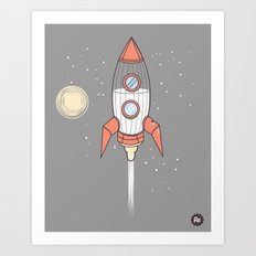 Bottle Rocket Art Print