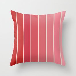 Gradient Arch - Pink / Red Tones Throw Pillow
