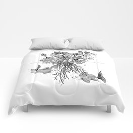 Waterlilies and goldfishes Comforters