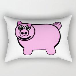 Stuffed Pig Rectangular Pillow