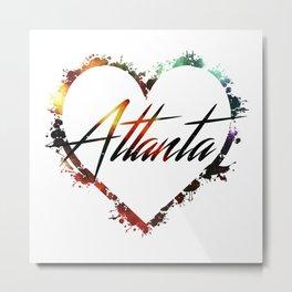 I Love Atlanta Metal Print