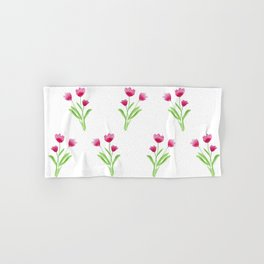 Pink Wildflowers Hand & Bath Towel