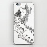 sneakers iPhone & iPod Skins featuring Sneakers by DelaneyFamilyArt
