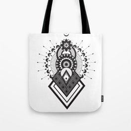 Mandala of the sun, moon and stars. Tote Bag