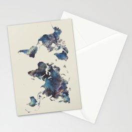 world map 124 blue  #worldmap #map Stationery Cards