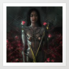 rose and chain Art Print