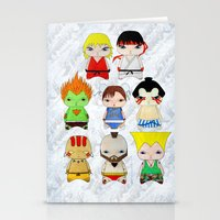 street fighter Stationery Cards featuring A Boy - Street fighter by Christophe Chiozzi